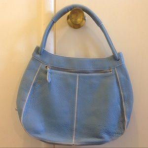 NWOT Cole Han Light Blue Leather shoulder Bag